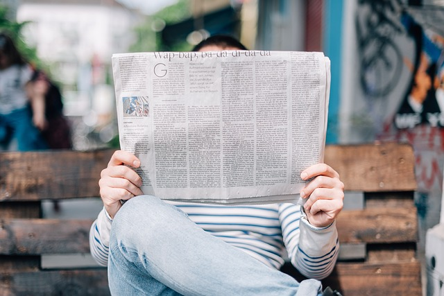 Day 2: READ the newspaper. A PAPER copy.